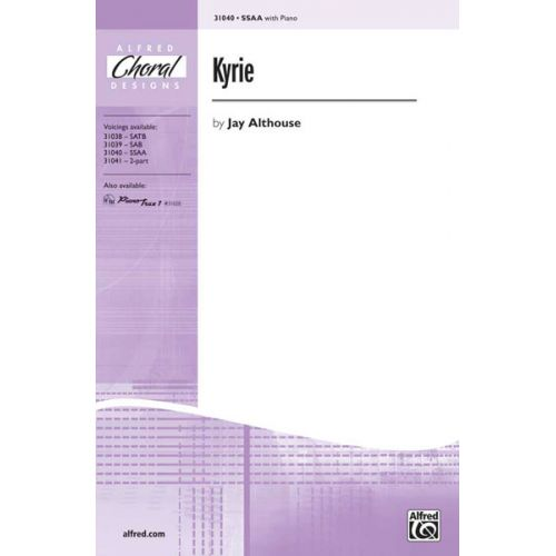 ALFRED PUBLISHING ALTHOUSE JAY - KYRIE - UNISON, UPPER, EQUAL VOICES