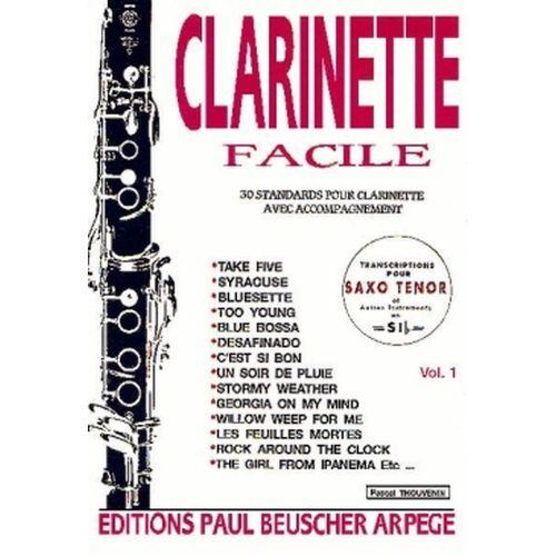 PAUL BEUSCHER PUBLICATIONS CLARINETTE FACILE VOL 1 - CLARINETTE
