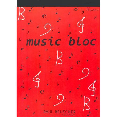 LEMOINE MUSIC BLOC 12 PORTÉES