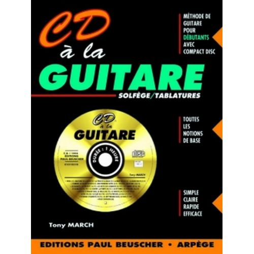PAUL BEUSCHER PUBLICATIONS MARCH TONY - CD À LA GUITARE + CD