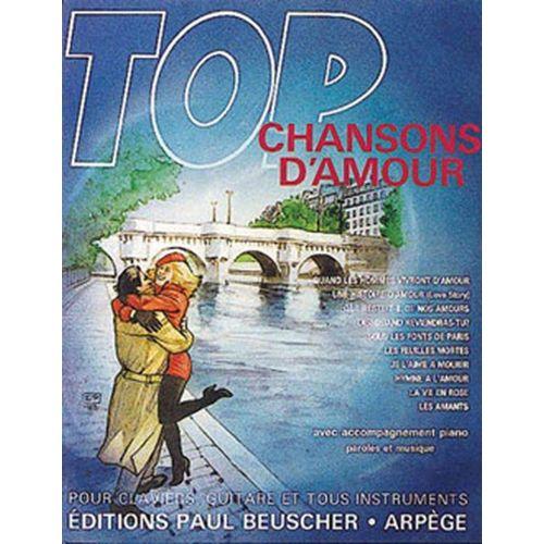 PAUL BEUSCHER PUBLICATIONS TOP CHANSONS D'AMOUR - PVG