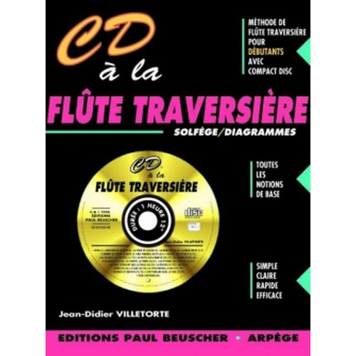 PAUL BEUSCHER PUBLICATIONS VILLETORTE JEAN-DIDIER - CD À LA FLÛTE TRAVERSIÈRE + CD