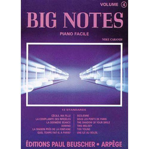 PAUL BEUSCHER PUBLICATIONS CARANDI MIKE - BIG NOTES N°4 - PIANO 4 MAINS
