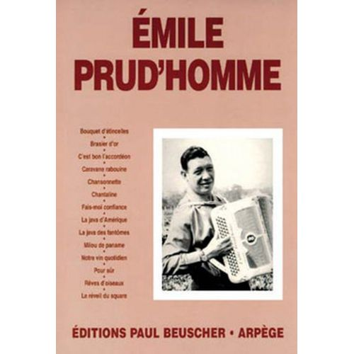PAUL BEUSCHER PUBLICATIONS PRUD'HOMME EMILE - EMILE PRUD'HOMME - ACCORDEON