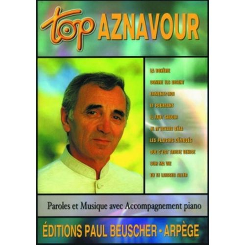 PAUL BEUSCHER PUBLICATIONS AZNAVOUR CHARLES - TOP AZNAVOUR - PVG