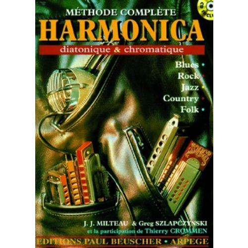 PAUL BEUSCHER PUBLICATIONS MILTEAU J.-J. / SZLAPCZYNSKI G. - PREMIÈRE MÉTHODE D'HARMONICA DIATONIQUE ET CHROMATIQUE + CD