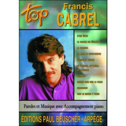 PAUL BEUSCHER PUBLICATIONS CABREL FRANCIS - TOP CABREL - PVG