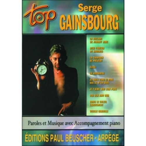 PAUL BEUSCHER PUBLICATIONS GAINSBOURG SERGE - TOP GAINSBOURG - PVG