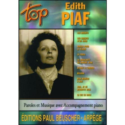 PAUL BEUSCHER PUBLICATIONS PIAF EDITH - TOP PIAF - PVG