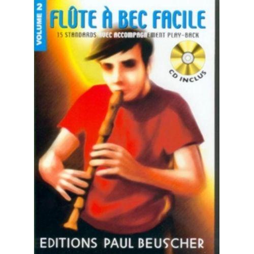 PAUL BEUSCHER PUBLICATIONS FLUTE A BEC FACILE VOL.2 + CD