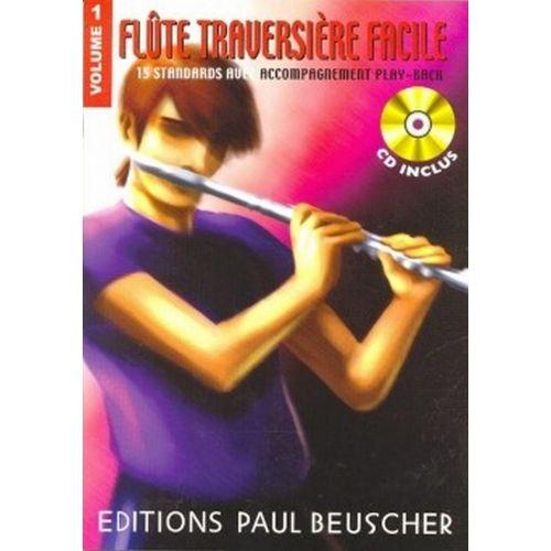 PAUL BEUSCHER PUBLICATIONS FLÛTE TRAVERSIÈRE FACILE VOL.1 + CD - FLUTE