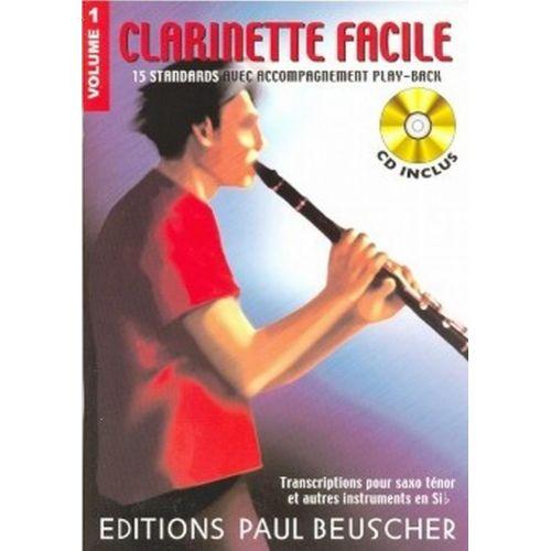 PAUL BEUSCHER PUBLICATIONS CLARINETTE FACILE SIB VOL.1 + CD