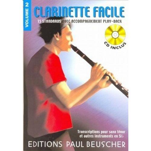 PAUL BEUSCHER PUBLICATIONS CLARINETTE FACILE SIB VOL.2 + CD