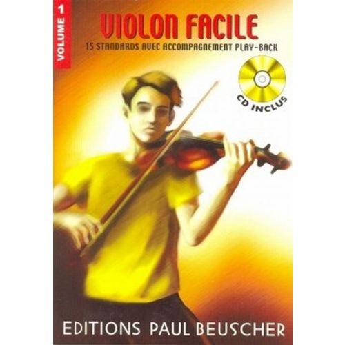 PAUL BEUSCHER PUBLICATIONS VIOLON FACILE VOL.1 + CD