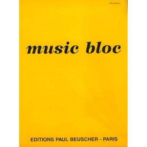 PAUL BEUSCHER PUBLICATIONS MUSIC BLOC 16 PORTEES