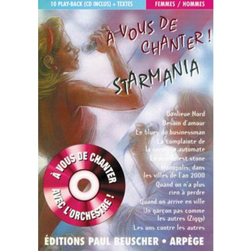PAUL BEUSCHER PUBLICATIONS A VOUS DE CHANTER STARMANIA + CD