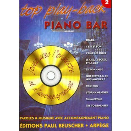 PAUL BEUSCHER PUBLICATIONS TOP PIANO BAR VOL.2 + CD - PVG