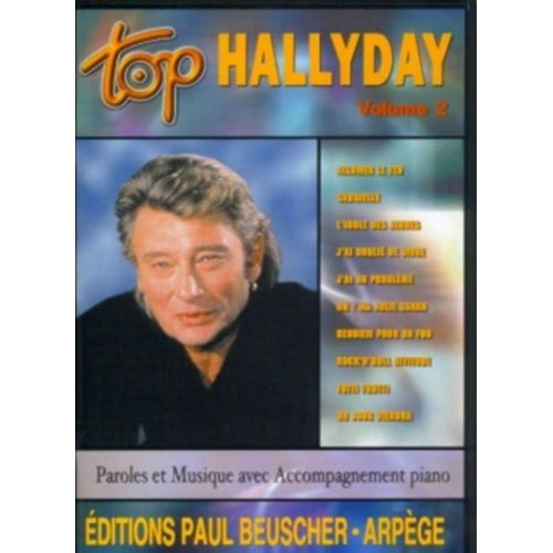 PAUL BEUSCHER PUBLICATIONS HALLYDAY JOHNNY - TOP HALLYDAY VOL.2 - PVG