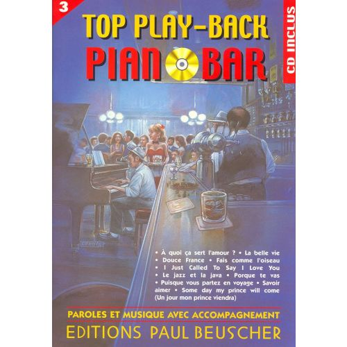 PAUL BEUSCHER PUBLICATIONS TOP PIANO BAR VOL.3 + CD - PVG