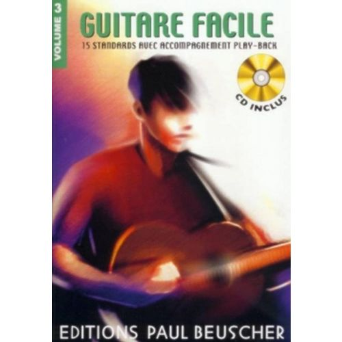 PAUL BEUSCHER PUBLICATIONS GUITARE FACILE VOL.3 + CD