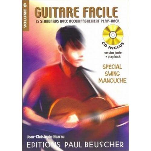 PAUL BEUSCHER PUBLICATIONS GUITARE FACILE VOL.6 SPÉCIAL SWING MANOUCHE + CD