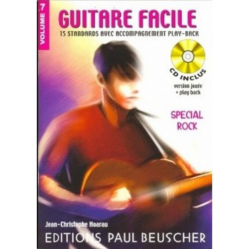 PAUL BEUSCHER PUBLICATIONS GUITARE FACILE VOL.7 SPECIAL ROCK + CD