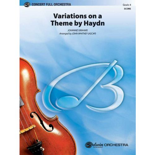ALFRED PUBLISHING VARIATIONS ON A THEME HAYDN - FULL ORCHESTRA