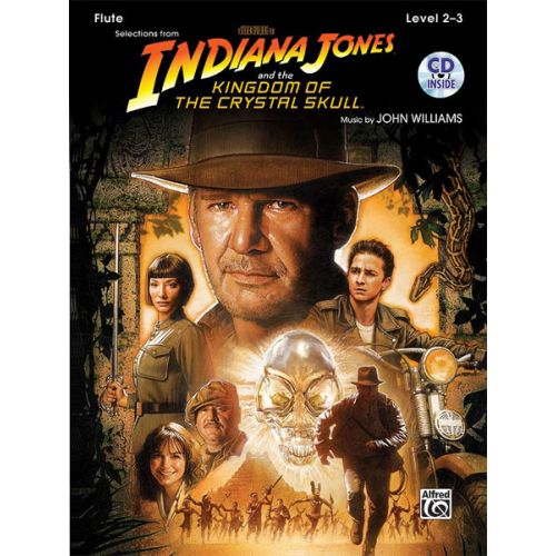 ALFRED PUBLISHING WILLIAMS JOHN - INDIANA JONES - CRYSTAL SKULL + CD - FLUTE AND PIANO