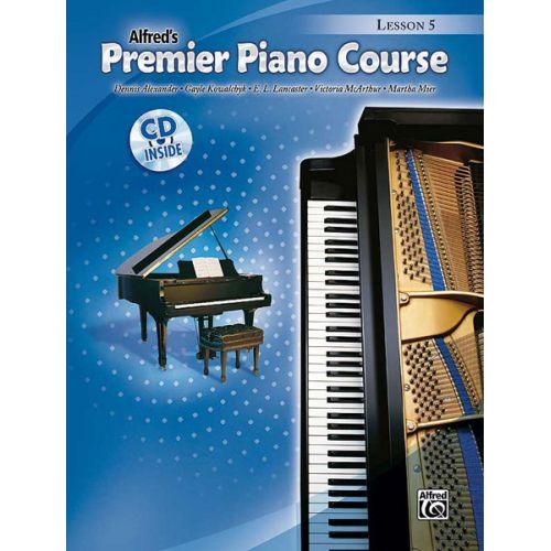 ALFRED PUBLISHING PREMIER PIANO COURSE LESSON 5 + CD - PIANO SOLO