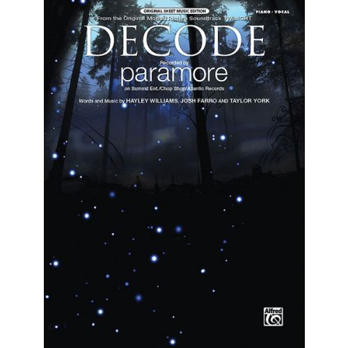 ALFRED PUBLISHING PARAMORE - DECODE FROM TWILIGHT - PVG