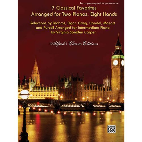 ALFRED PUBLISHING SPEIDEN CARPER V - 7 CLASSICAL FAVOURITES - PIANO DUET