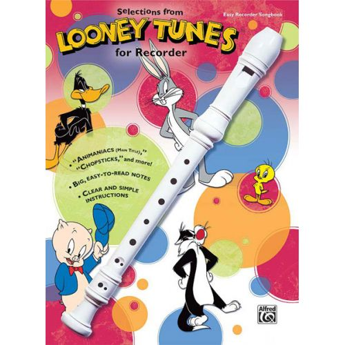 ALFRED PUBLISHING LOONEY TUNES RECORDER BOOK - RECORDER SOLO