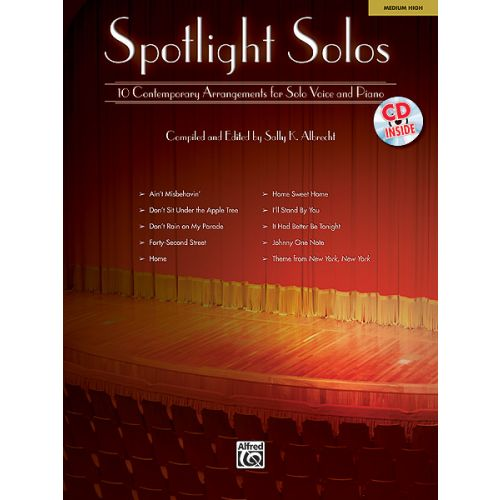 ALFRED PUBLISHING ALBRECHT SALLY - SPOTLIGHT SOLOS + CD - VOICE AND PIANO