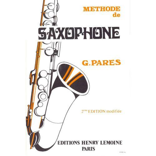 LEMOINE PARES GABRIEL - METHODE DE SAXOPHONE