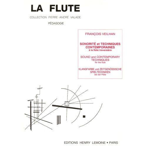 LEMOINE VEILHAN FRANCOIS - SONORITE ET TECHNIQUES CONTEMPORAINES - FLUTE