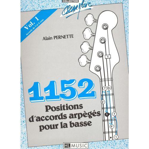 LEMOINE PERNETTE ALAIN - 1152 POSITIONS D'ACCORDS N°1 - GUITARE BASSE