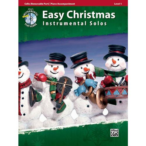 ALFRED PUBLISHING EASY CHRISTMAS INST SOLOS + CD - CELLO SOLO