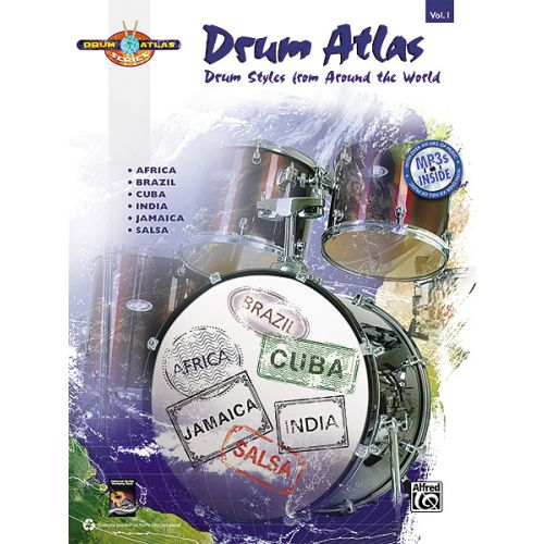 ALFRED PUBLISHING DRUM ATLAS COMPLETE V1 + CD - DRUMS & PERCUSSION