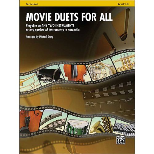 ALFRED PUBLISHING STORY MICHAEL - MOVIE DUETS FOR ALL - PERCUSSION
