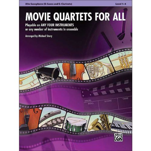 ALFRED PUBLISHING STORY MICHAEL - MOVIE QUARTETS FOR ALL - MIXED ENSEMBLE