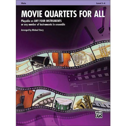 ALFRED PUBLISHING STORY MICHAEL - MOVIE QUARTETS FOR ALL - VIOLA SOLO