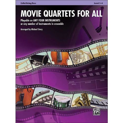 ALFRED PUBLISHING STORY MICHAEL - MOVIE QUARTETS FOR ALL - CELLO
