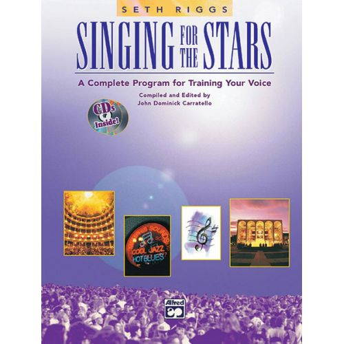 ALFRED PUBLISHING CARRATELLO JOHN DOMINICK - SINGING FOR THE STARS + 2 CD - SOLO VOICE