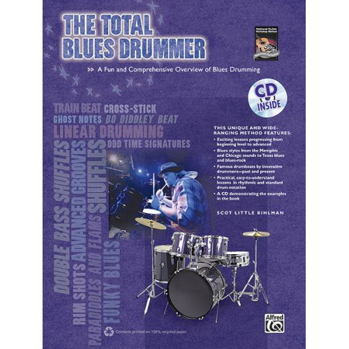ALFRED PUBLISHING BIHLMAN SCOTT - TOTAL BLUES DRUMMER + CD - PERCUSSION