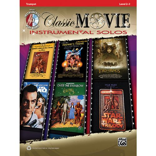 ALFRED PUBLISHING CLASSIC MOVIE INSTRUMENTAL SOLO + CD - TRUMPET SOLO