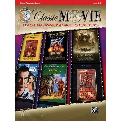ALFRED PUBLISHING CLASSIC MOVIE INSTRUMENTAL SOLO + CD - PIANO SOLO
