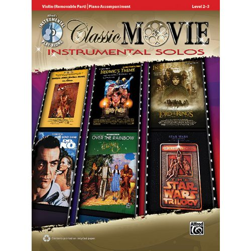 ALFRED PUBLISHING CLASSIC MOVIE INSTRUMENTAL SOLO + CD - VIOLIN SOLO