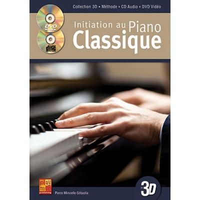 PLAY MUSIC PUBLISHING MINVIELLE-SEBASTIA - INITIATION AU PIANO CLASSIQUE EN 3D CD + DVD