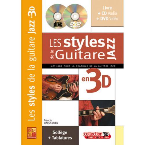PLAY MUSIC PUBLISHING DARIZCUREN F. - STYLES JAZZ DE LA GUITARE EN 3D CD + DVD