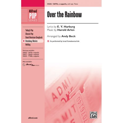ALFRED PUBLISHING BECK ANDY - OVER THE RAINBOW - MIXED VOICES SATB